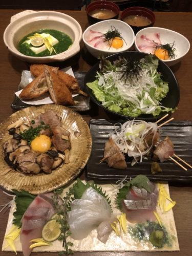 2020春の旬菜コース  税込3,000円